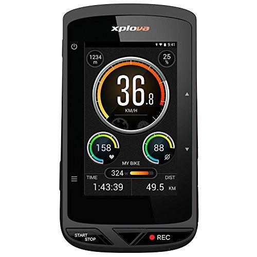 Xplova X5Smart Ordenador para bicicleta con videocámara integrada y GPS, negro/naranja [Italian Version]