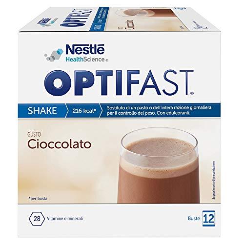 OPTIFAST SHAKE- Pasto sostitutivo completo - GUSTO CIOCCOLATO - 12 buste da 55g