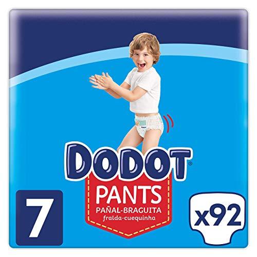 Dodot Pants Pañal - Braguita Talla 7, 92 Pañales, 17 kg +, Pañal - Braguita Con Ajuste 360° Anti - fugas