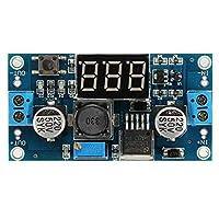 SSY-YU モジュール PCアクセサリ アジャスタブルステップダウンパワー補遺モジュールとDispla 10個LM2596 DC-DC電圧レギュレータ科学の実験モジュール エレクトロニクス部品