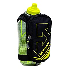 STAYS FRESH – 18oz double-wall insulated and hi-visibility reflective hydration flask with race cap that offers quick burst of fluid. Stays cooler longer! GRIP FREE – Fully adjustable hand strap with thumbhole enables grip free running. STORAGE – Lar...