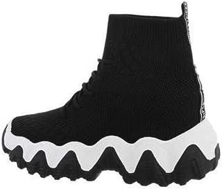 Genererique Sneaker Montante, Calzini e Suola Dentata Unisex