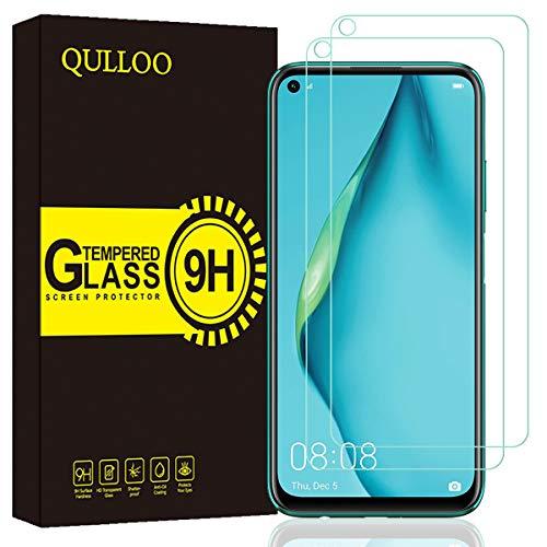 QULLOO Panzerglas für Huawei P40 Lite, 9H Hartglas Schutzfolie HD Bildschirmschutzfolie Anti-Kratzen Panzerglasfolie Handy Glas Folie für Huawei P40 Lite