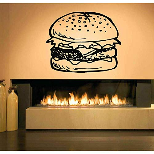Vinyl Wall Hamburger Food Burger Bohemian Wall Sticker