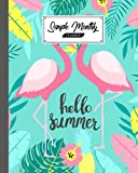 Simple Monthly Planners: pink flamingos Cover | Pretty Simple Planners Monthly and Year | To Do List, Goals, and Agenda for School, Home and Work by Siegrid Graf