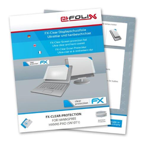 atFolix Schutzfolie kompatibel mit HannSpree HannsPad 10.1 SN10T1 Folie, ultraklare FX Bildschirmschutzfolie (2X)