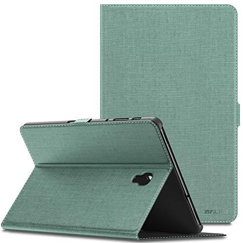 INFILAND Samsung Galaxy Tab A 10.5 Hülle Hülle, Slim Ultraleicht Halten Schutzhülle Cover Tasche Compatible with Galaxy Tab A 10.5 (T590 Wi-Fi/T595 LTE) 2018 (mit Auto Schlaf/Wach Funktion),Minzgrün