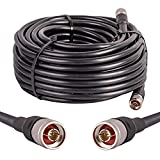 75ft KMR400 Coax Extension Cable N Male to N Male Connector XRDS-RF Pure Copper Low Loss Coaxial Cables for 3G/4G/5G/LTE/GPS/WiFi/RF/Ham/Radio to Antenna or Phone Signal Booster Use 50 Ohm(Not for TV)