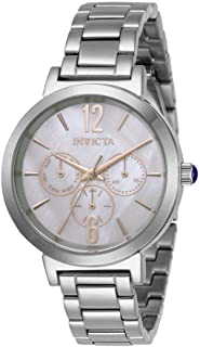 Invicta Women's Angel Quartz Watch with Stainless Steel Strap, Silver, 16 (Model: 31082)