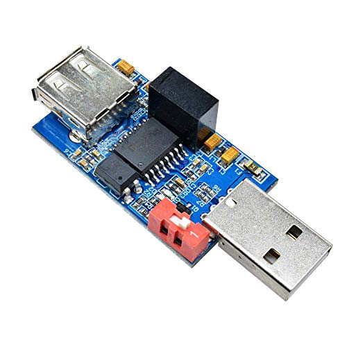 iHaospace 1500V USB to USB Isolator Board Protection Isolation ADUM4160 ADUM3160 Voltage Isolator Module Support 12Mbps 1.5Mbps