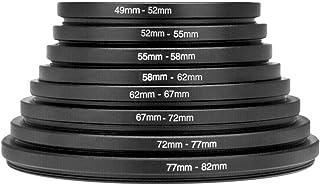 Adaptador Len, 8 PCS Metal Step Up Rings Conjunto de adaptador de filtro de lente universal 49-52-55-58-62-67-72-77-82mm, ...