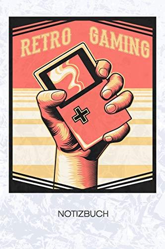 Retro Gaming: Konsolenspieler Notizbuch A5 Kariert - Nerd Heft - Gaming Notizheft 120 Seiten KARO - Daddeln Notizblock Konsolen Spiel Motiv - Geek Geschenk