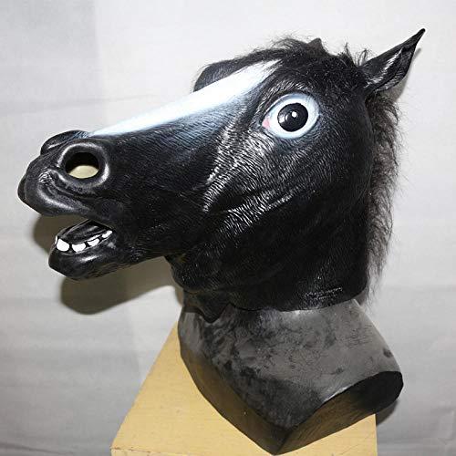 Winpavo Halloween-Deko Halloween Party Requisiten Máscaras De Animales De Caballo De Látex para Accesorios De Decoración De Fiesta De Halloween