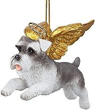 Christmas Tree Ornaments - Honor The Pooch Miniature Schnauzer Holiday Angel Dog Ornaments