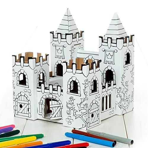 Calafant Kleines Schloss B2602X – zum Basteln, Anmalen & Spielen. Das Original, direkt vom Hersteller.