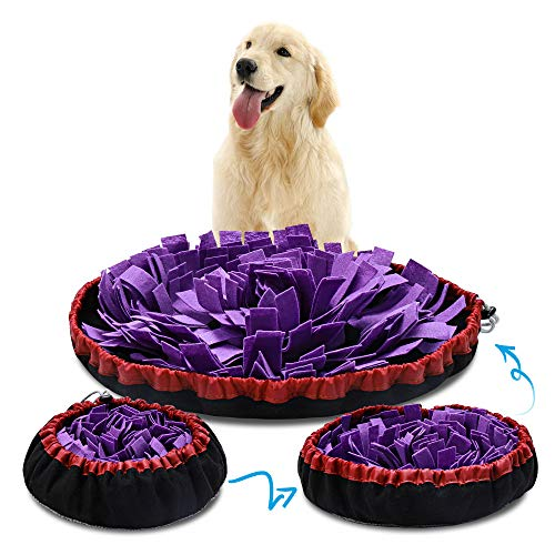 HomeMall Adjustable Snuffle mat for Dogs, Dog Puzzle Toys, Feeding...