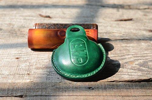 Leather Car Key Case Key holder Stitching Handmade Remote key cover fob chain for BMW Mini Cooper ONE/FUN F55 F56 BMW MINI Cooper 2