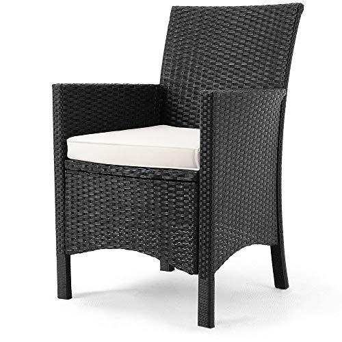 Polyrattan Sitzgruppe 8+1 Tisch aus Akazienholz Gartenmöbel Lounge Gartenset Sitzgarnitur Rattan - 4