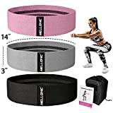 Resistance Booty Bands Set of 3 for Legs and Butt Workout Fabric Elastic Band Gym Exercise Equipment Fitness Squat Sports Glute Stretch Leg Resistant Bands for Working Out for Women & Men