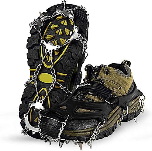 Spikes für Schuhe GRÖßE M (36-40), Schuhspikes, Schuhkrallen Steigeisen für Schuhe im Winter Steigeisen Grödel Eisspikes, Schuhkrallen mit Edelstahl Zähne Spikes Grödeln Klettern Bergsteigen Trekking
