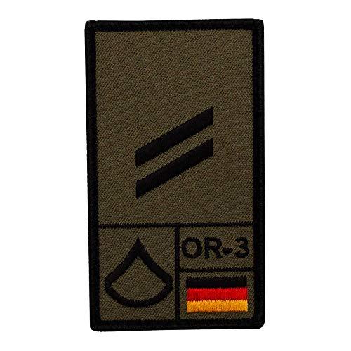 Café Viereck ® Obergefreiter Bundeswehr Rank Patch mit Dienstgrad - Gestickt mit Klett – 9,8 cm x 5,6 cm
