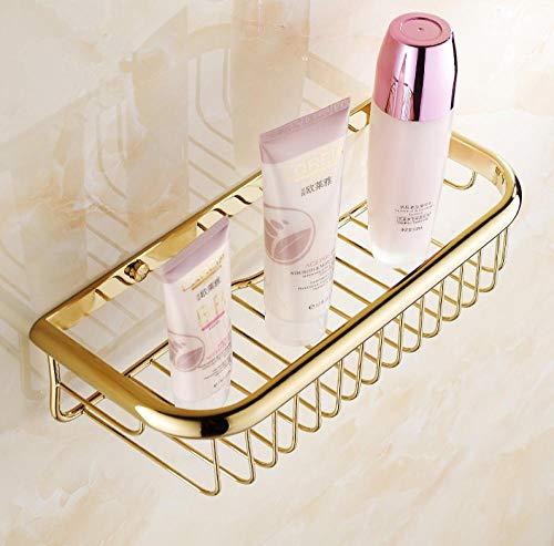Guld Mode Efterbehandling Badrumstillbehör Duschschampo och kosmetika Hyllakorghållare/Mässing Smidesjärn Material Vägghyllor