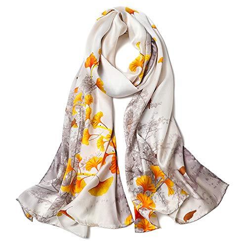 WH-IOE Lady Seidenschal Weich Art und Weise Frauen-Druck Schals Blumenhals-Schal-Schal-Verpackung Sarong Anti-Allergie-Halsschutz Schal für Frauen Warm (Farbe : 3, Größe : 170cm*53cm)