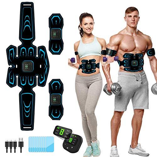 Moonssy Elettrostimolatore per Addominali,Elettrostimolatore Muscolare,EMS Stimolatore,USB...