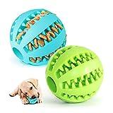 Giocattolo Palla per Cane,Palla per Pulito dei Denti di Cane,Gioco Palla Rimbalzante Cane,Giocattolo interattivo Resistente Palla per Cani,Palla da Masticare per Cani (Verde & Blu)