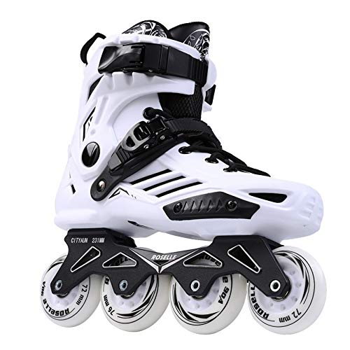 Roller Skates, Adult Outdoor Inline Skates Roller Skates, Comfortable Freestyle Roller Skates for Women and MenWhite-36