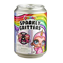 Feed Poopsie Sparkly Critters water and they magically spit or poop slime Each Sparkly Critter is an adorable animal with a sparkly unicorn horn Unbox the sparkly soda pop can to find so many surprises inside Transform slime by adding Unicorn Magic, ...