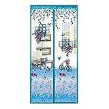 NAXIAOTIAO Sommer Schlafzimmer Klett Anti-Moskito-Vorhang Weichen Vorhang Stumm Magnetstreifen Sand Tür Trennwand Vorhang,04,95 * 220