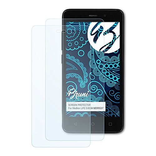 Bruni Schutzfolie kompatibel mit Medion Life E4504 MD99537 Folie, glasklare Bildschirmschutzfolie (2X)