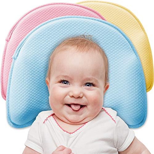 Babykissen Premium von iQ-med   mit 2 Bezügen   gegen Plattkopf und Verformung (Rosa)