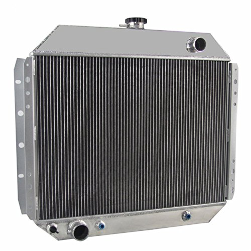OzCoolingParts 66-79 Ford F-Series Radiator - 56mm 3 Row Core Aluminum Radiator for 1966-1979 1968 1970 73 75 77 Ford F100 F150 F250 F350 Truck Pickup, Bronco V8 Engine