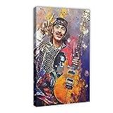 Guitarist-Carlos Santana Leinwand Poster Schlafzimmer Dekor