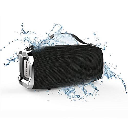 Altavoz Bluetooth Unicview Hopestar H36 Negro Estéreo Altavoces Inalámbrico, Altavoz Portátil con Subwoofer,Manos Libres, Resistente al Agua para Android/iOS/Ordenador/MicroSD/Auricular/proyector