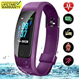 Updated 2019 Version Fitness Tracker HR Plus, Activity Trackers Health Exercise Watch with Heart Rate Sleep Monitor, Smart Band Calorie Step Counter, Pedometer Walking for Men Women Kids (Upgrade)