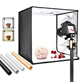 Neewer Bi-Color Dimmable 3000K-6500K Photo Studio Light Box 20 Inches Shooting Light Tent Foldable Portable Professional Booth Table Top Photography Lighting Kit 160 LED Lights 4 Color Backdrops
