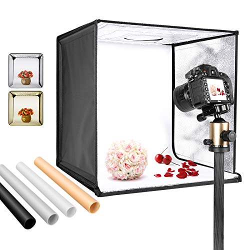 Neewer Bi-Color Dimmable 3200K-5600K Photo Studio Light Box 20 Inches Shooting Light Tent Foldable...