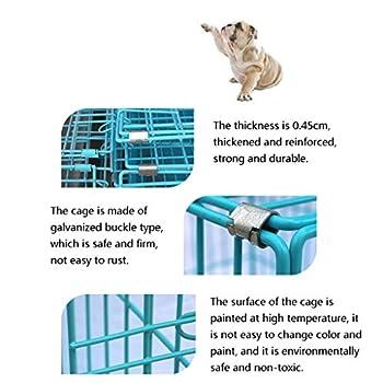 Chenils Cage De Chien en Métal, Caisse De Chien De Chat d'animal Familier De De Porte Pliante, Plateau De Cage De Formation en Métal De Fil De Parc De Chiot d'animal
