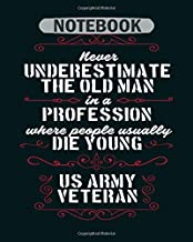 Notebook: never underestimate an old man in a profession - 50 sheets, 100 pages - 8 x 10 inches