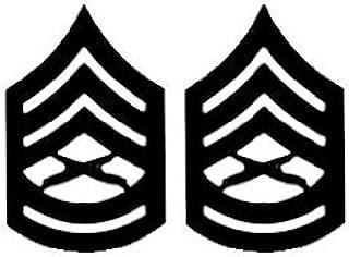 USMC ENLISTED Black Metal Pin-On Rank - Pair