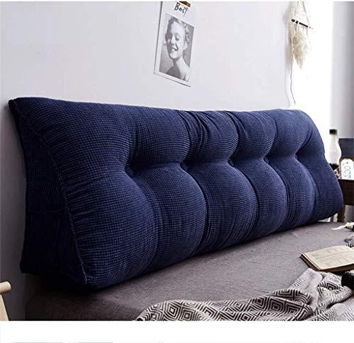 JKL J-Almohada Cojín de Noche, Bed Head Triángulo Volver Noche Ventana Bay Largo Almohada cojín del sofá Grande (Color : Blue, Size : 150 * 20 * 50cm)