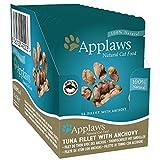 Applaws - Comida húmeda para gatos 100% natural, filete de atún con anchoas en caldo, bolsa de 70 g (paquete de 12)
