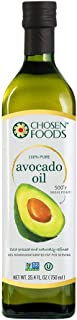 Chosen Foods 100% Avocado Oil Gold Label 25.4 oz., Non-GMO, for High-Heat Cooking, Frying, Baking, Homemade Sauces, Dressi...