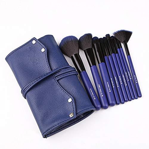 Brosses Kit de pinceaux de Maquillage Kabuki Face Powder Foundation Blush Ombre à Paupières Mélange de Cosmétiques Maquillage Pinceaux Kit Maquillage pour Les Femmes (Color : Bleu, Size : Libre)