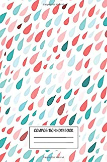 Notebook: Rainy Day Pattern , Journal for Writing, Size 6