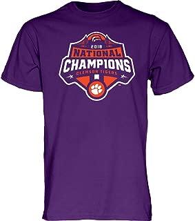 Clemson Tigers National Champs Tshirt 2018-2019 Purple Icon
