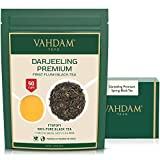 VAHDAM, First Flush Darjeeling Tea -50 Cups (3.53oz) | Loose Leaf Black Tea - Flowery, Aromatic & Delicious | Picked, Packed & Shipped Direct from India | Champagne of Teas | Mellow & Fragrant
